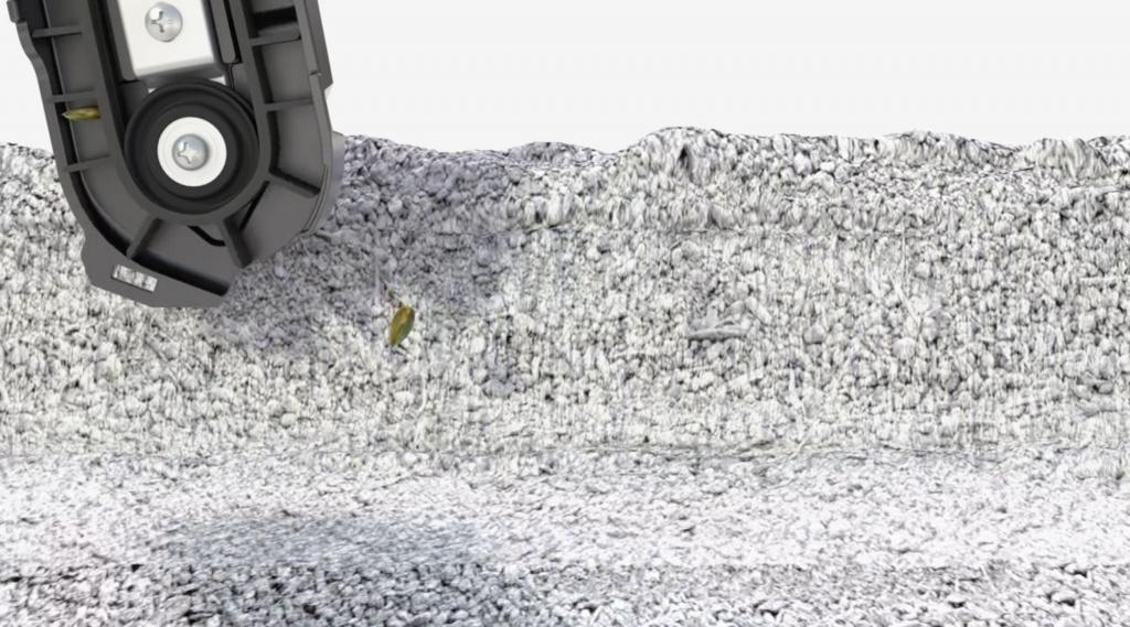 Раскладка семян в борозде с помощью высевающей трубки SpeedTube